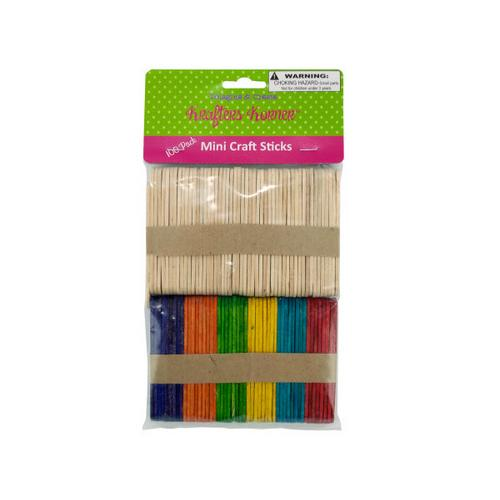 Multi-Colored & Natural Mini Craft Sticks ( Case of 50 )