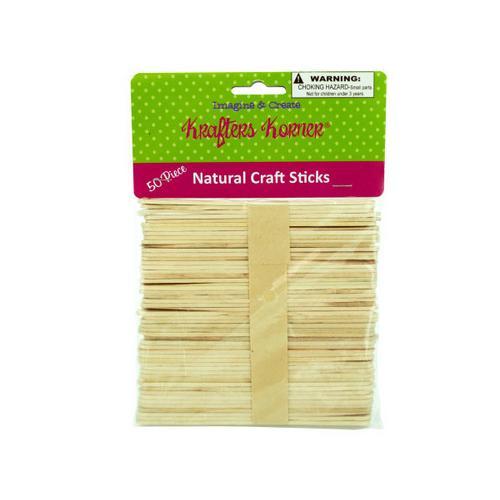 Flat Natural Wood Craft Sticks ( Case of 50 )
