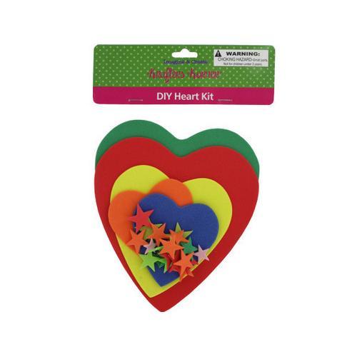 Do-It-Yourself Foam Heart Craft Kit ( Case of 24 )