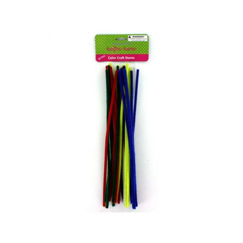 Chenille Color Craft Stems ( Case of 12 )