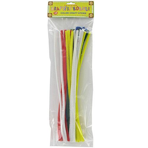Chenille Color Craft Stems ( Case of 24 )