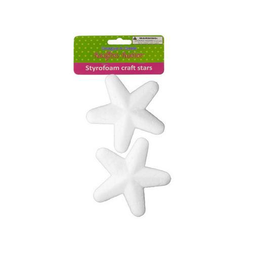 Styrofoam Craft Stars ( Case of 24 )