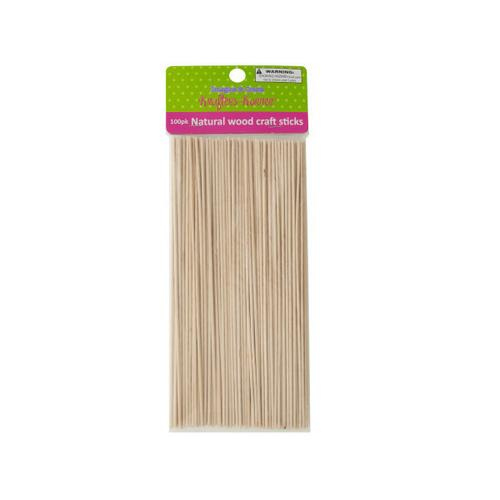 Skinny Natural Wood Craft Sticks ( Case of 12 )