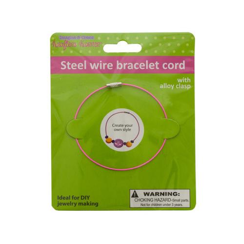 Steel Wire Craft Bracelet ( Case of 24 )