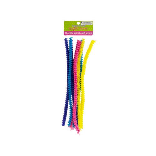 Chenille Spiral Craft Stems ( Case of 24 )