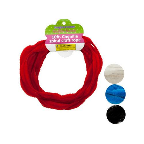 Chenille Spiral Craft Rope ( Case of 24 )