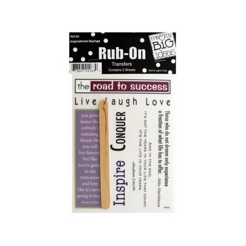 Inspirational Sayings Rub-On Transfers ( Case of 72 )