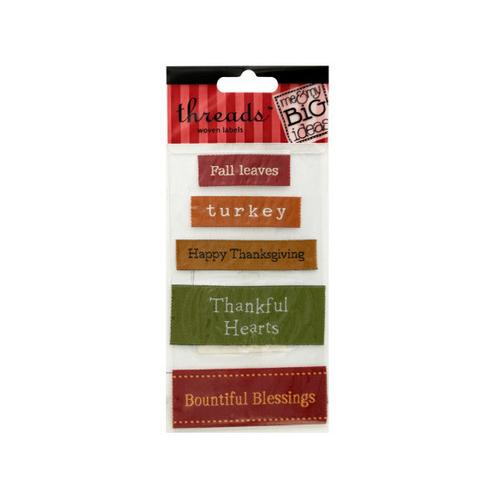 Thanksgiving Woven Labels ( Case of 48 )