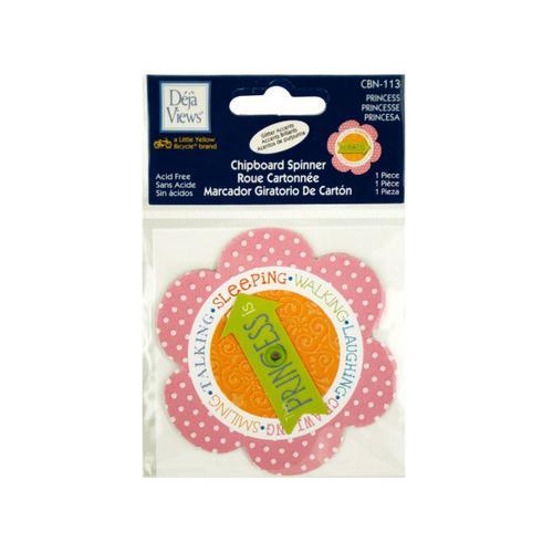 Princess Chipboard Spinner Sticker ( Case of 36 )