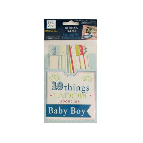 10 Things I Adore About My Baby Boy Journaling Pocket ( Case of 72 )
