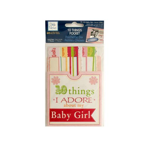 10 Things I Adore About My Baby Girl Journaling Pocket ( Case of 24 )
