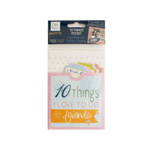 10 Things Friends Journaling Pocket ( Case of 24 )