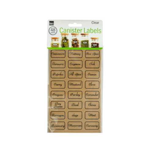 Clear Kitchen Canister Labels ( Case of 72 )