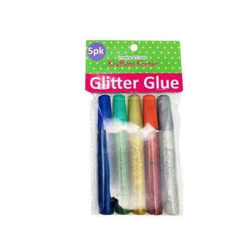 Five Pack Glitter Glue ( Case of 20 )