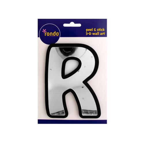 Letter R Peel & Stick Mirror Wall Decor ( Case of 72 )