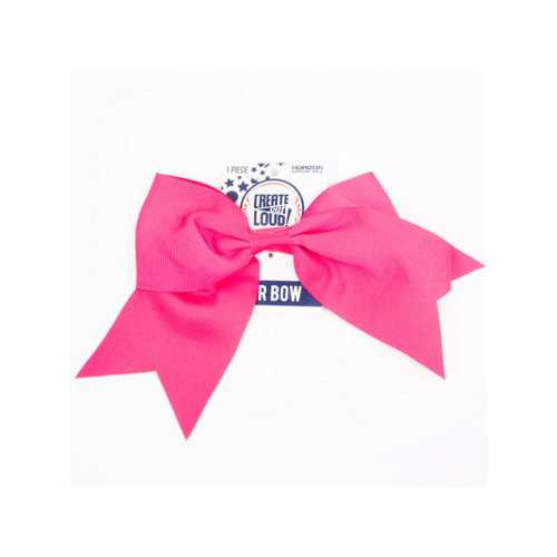 Create Out Loud Large Pink Hair Bow ( Case of 24 )