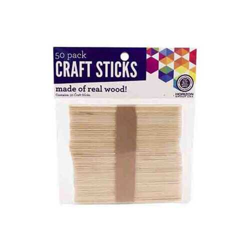 50 Pack Wood Craft Sticks ( Case of 24 )