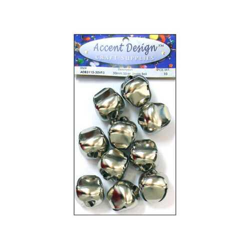 10pc Silver Jingle Bell Value Pack ( Case of 90 )