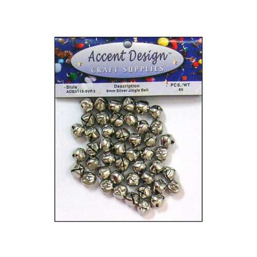 65pc Silver Jingle Bell Value Pack ( Case of 30 )