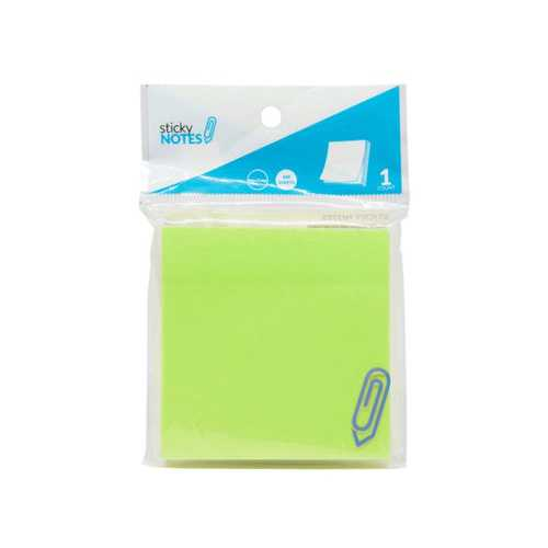 "3"" X 3"" Neon Green Sticky Notes ( Case of 72 )"