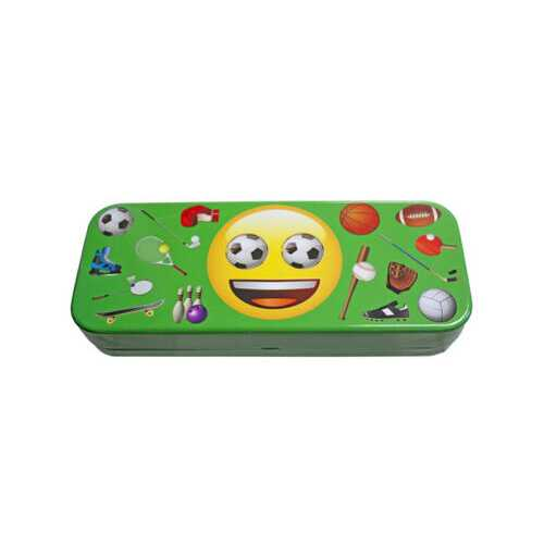 Emoji Tin Pencil Box in 4 Assorted Styles ( Case of 72 )