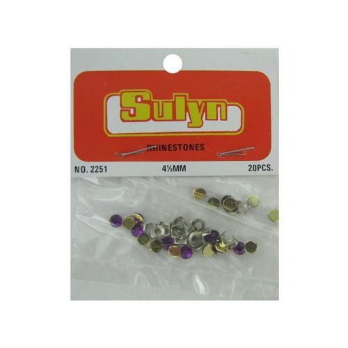 Purple Craft Rhinestones ( Case of 24 )