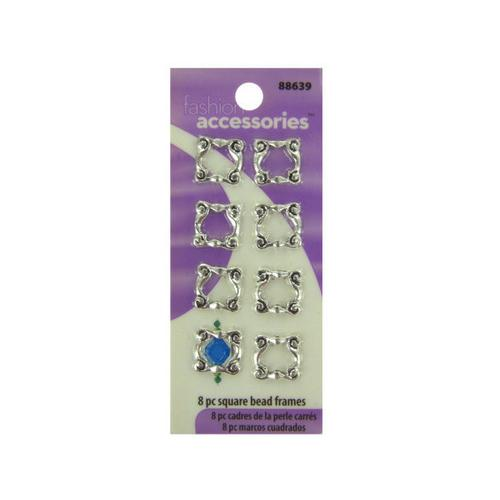 Square Frame Beads ( Case of 24 )