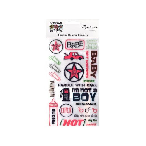 Baby with Attitude Rub-on Transfers ( Case of 48 )