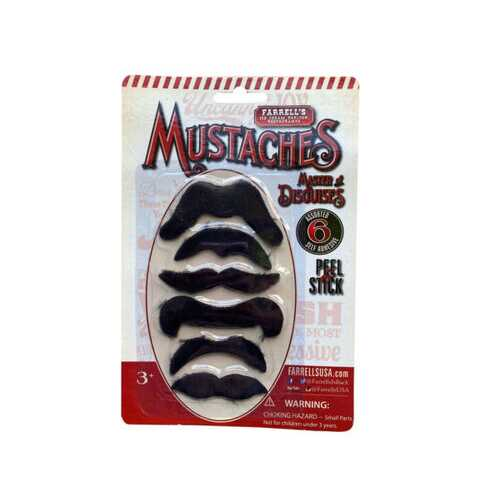 farrell's 6 count mustache pack ( Case of 75 )