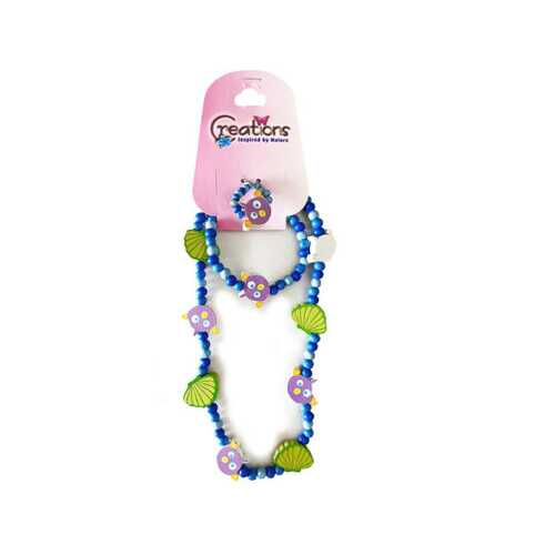 Creations 3 Piece Fish Themed Necklace Bracelet & Ring Set ( Case of 72 )
