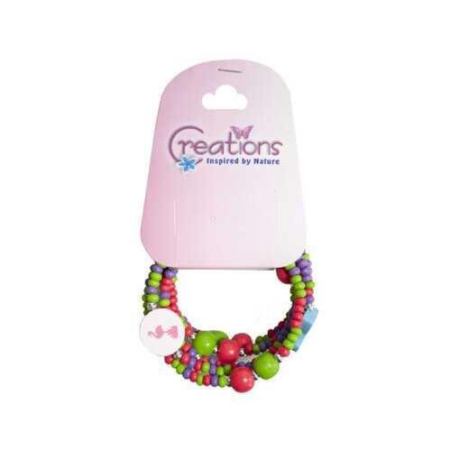 creation flamingo themed wrap bracelet ( Case of 24 )
