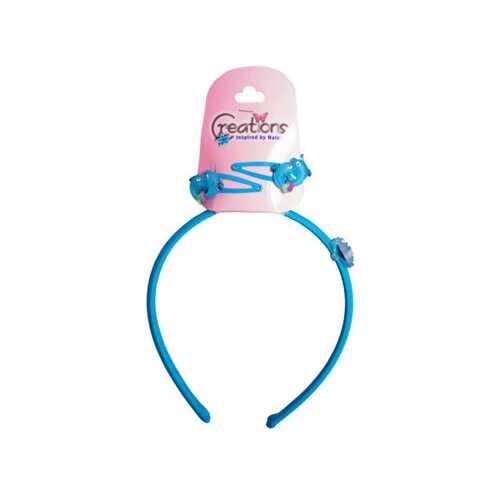 Creations 3 Piece Dolphin Themed Headband & Clips Set ( Case of 24 )