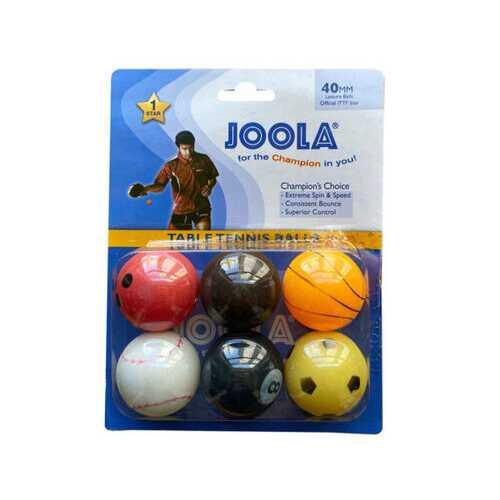 JOOLA 6 Pack Sport Themed TableTennis Balls ( Case of 72 )