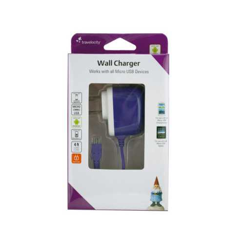 Travelocity Micro USB Wall Charger ( Case of 12 )