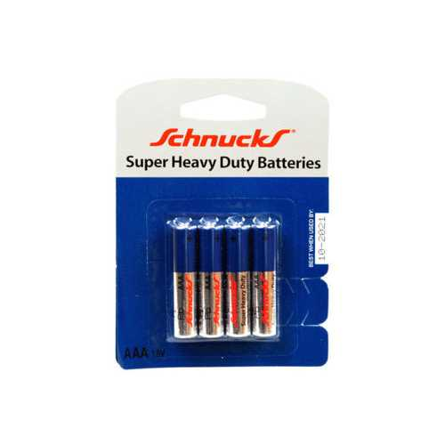 AAA Super Heavy Duty Batteries in Blister Pack of Four ( Case of 12 )