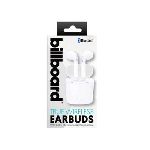 Billboard Bluetooth True Wireless Earbuds with Charging Case ( Case of 4 )