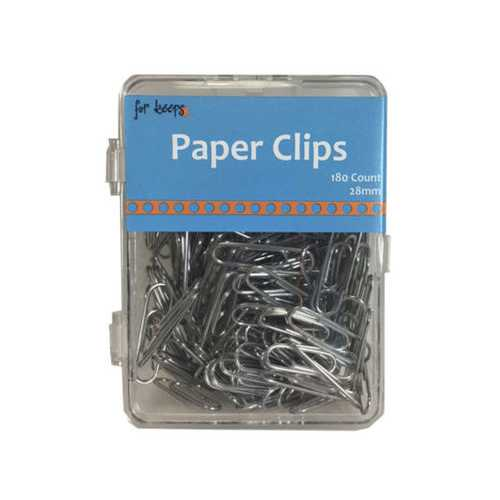 180 count silver paper clips ( Case of 48 )