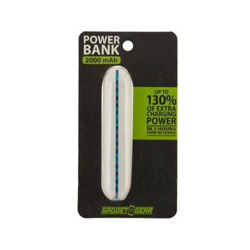 2000 mAh Color Stripe Power Bank ( Case of 6 )