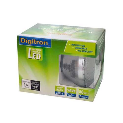 Soft White PAR30 Long-Neck Quartz Glass LED Flood Light Bulb ( Case of 18 )