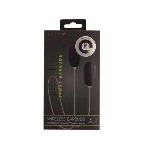 Hype Jolt Black Wireless Sport Earbuds ( Case of 2 )