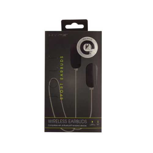 Hype Jolt Black Wireless Sport Earbuds ( Case of 4 )