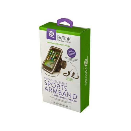 Essentials Armband and Earbuds ( Case of 12 )