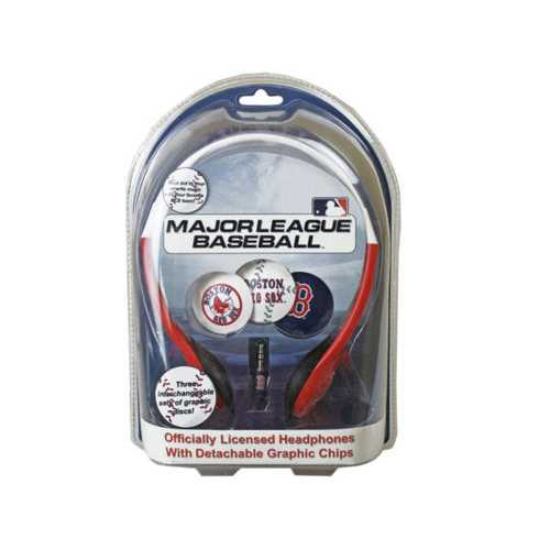 Boston Red Sox MLB Detachable Graphic Headphones ( Case of 12 )