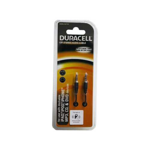 duracell 10 ft black stereo audio cable ( Case of 24 )