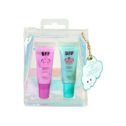 Unicorn BFF Duo Swirl Lip Gloss Set ( Case of 48 )