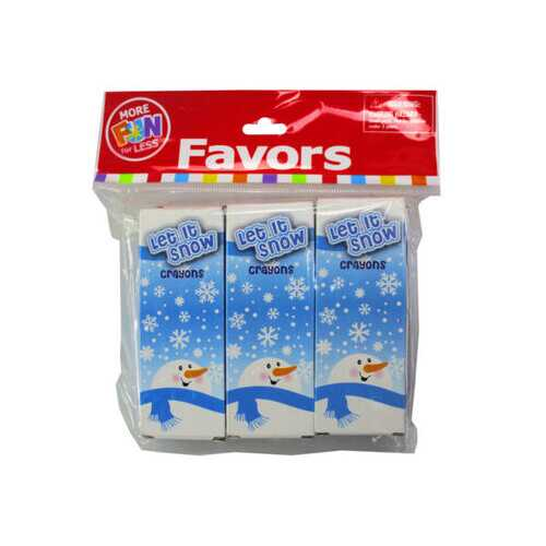24 Pack Winter Theme Crayons with 6 packs of 4 ( Case of 108 )