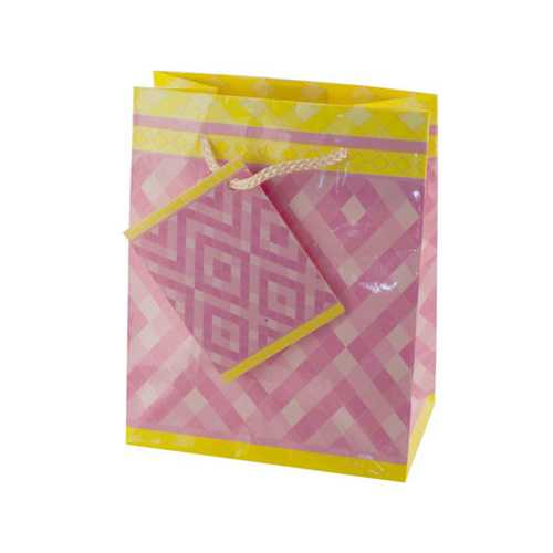 Small Pink Diamonds Gift Bag ( Case of 36 )