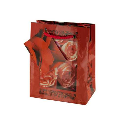 Small Red Rose Gift Bag ( Case of 36 )