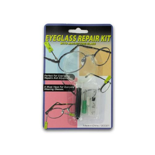Eyeglass Repair Kit with Magnifying Glass ( Case of 48 )
