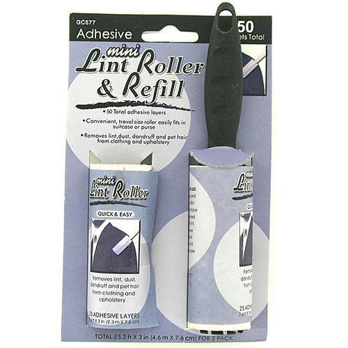 Mini Lint Roller & Refill ( Case of 48 )